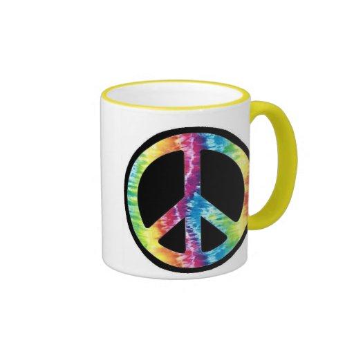 Tie Dye Peace Sign mug