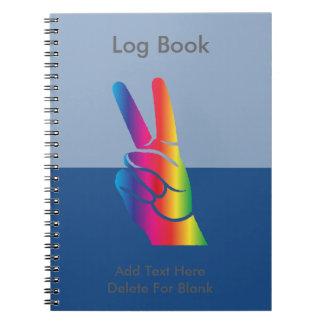 Tie-Dye Peace Sign Notebook