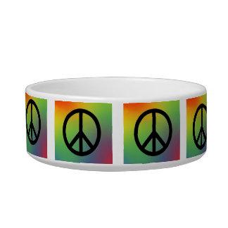 Tie Dye Peace Sign Pet Bowl