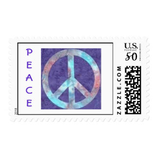 Tie Dye Peace Sign Postage