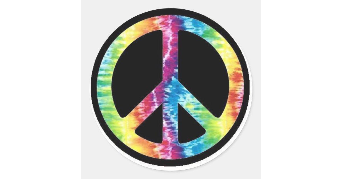Tie Dye Peace Sign sticker | Zazzle.com