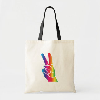 Tie-Dye Peace Sign Tote Bag