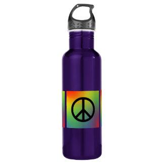 Tie Dye Peace Sign Water Bottle