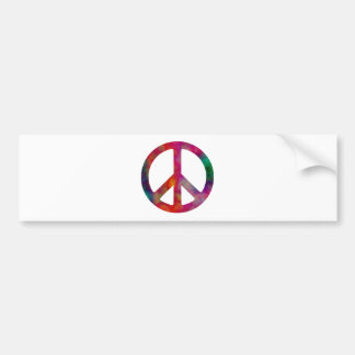 Tie Dye Peace Symbol Car Bumper Sticker