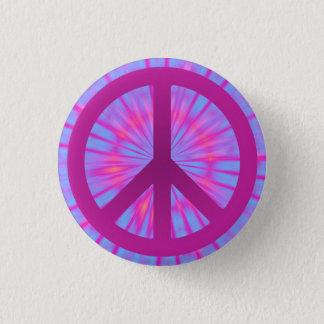 Tie Dye Peace Symbol Button