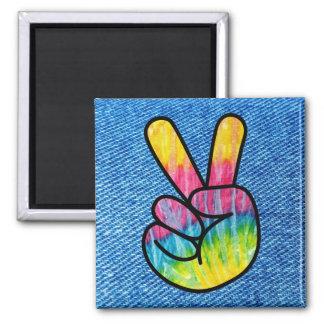 Tie-Dye Peace Symbol Magnet