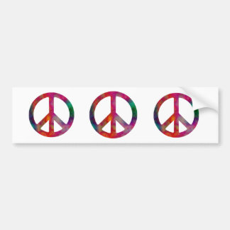 Tie Dye Peace Symbol, Tie Dye Peace Symbol, Tie... Bumper Sticker