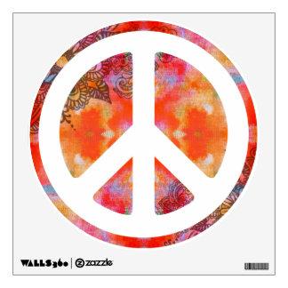 Tie Dye Peace Wall Sticker