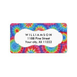 """Tie Dye personalized party favor tags or labels<br><div class=""""desc"""">This design is available on many items in our store.  Just ask the designer if you need help with personalization or need this design on another item.</div>"""