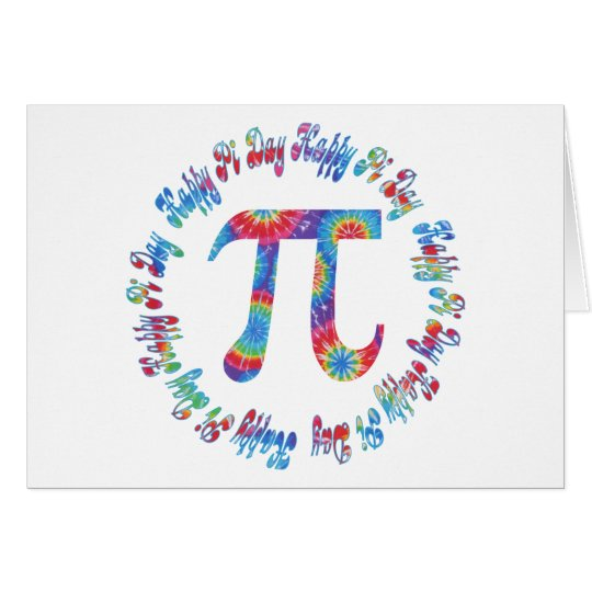 Tie Dye Pi Day Tees and Gifts Card