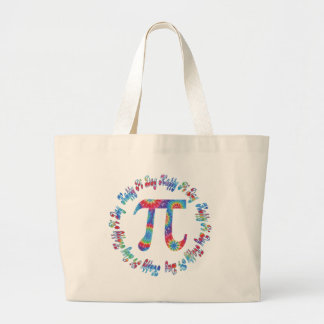 Tie Dye Pi Day Tees and Gifts Large Tote Bag