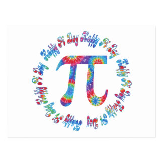 Tie Dye Pi Day Tees and Gifts Postcard