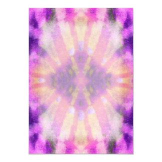Tie Dye Pink Purple Radial Rays Spot Pattern Card