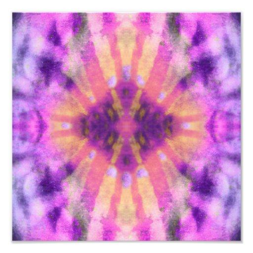 Tie Dye Pink Purple Radial Rays Spot Pattern Art Photo