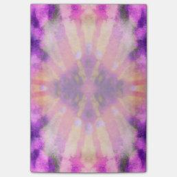 Tie Dye Pink Purple Radial Rays Spot Pattern Post-it Notes