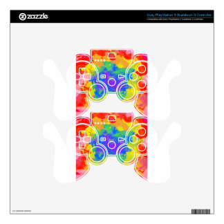 tie-dye PS3 controller decal