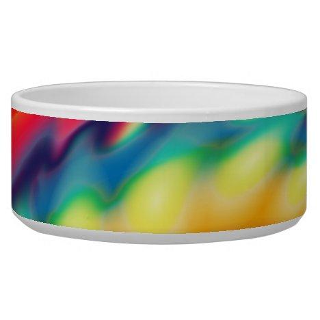 Tie Dye Psychedelic Rainbow Pattern Bowl