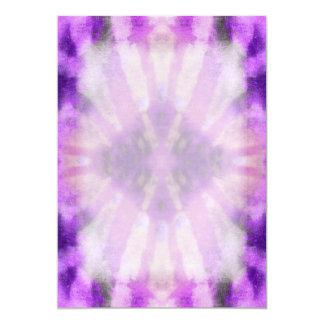 Tie Dye Purple Violet Radial Rays Spot Pattern Card