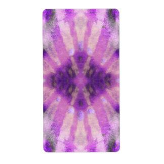 Tie Dye Purple Violet Radial Rays Spot Pattern Label