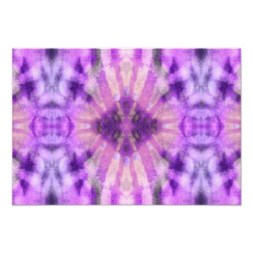 Tie Dye Purple Violet Radial Rays Spot Pattern Photograph