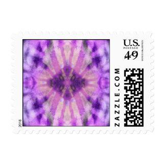 Tie Dye Purple Violet Radial Rays Spot Pattern Stamp