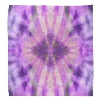 Tie Dye Purple Violet Radial Rays Spot Pattern Bandana