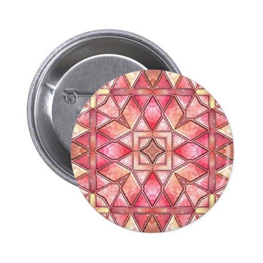 Tie Dye Quilt 2 Inch Round Button