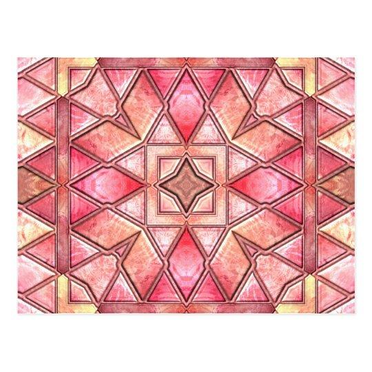 Tie Dye Quilt Postcard