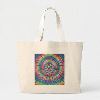 Tie Dye Rabbit Hole Large Tote Bag