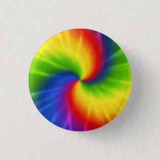 Tie Dye Rainbow Pattern Button