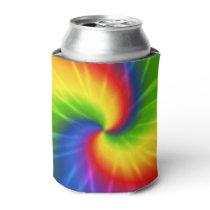 Tie Dye Rainbow Pattern Can Cooler