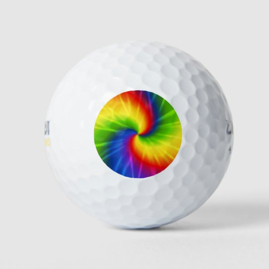 Tie Dye Rainbow Pattern Golf Balls Zazzlecom