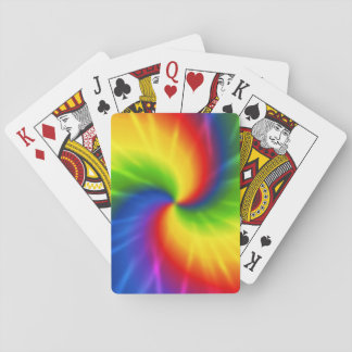 Tie Dye Rainbow Pattern Playing Cards