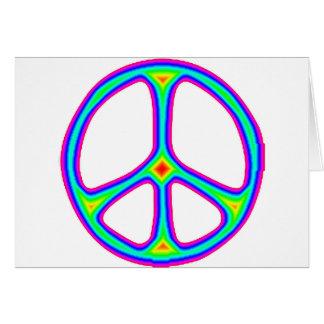 Tie Dye Rainbow Peace Sign 60's Hippie Love Greeting Card