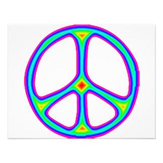 Tie Dye Rainbow Peace Sign 60's Hippie Love Invites