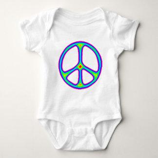 Tie Dye Rainbow Peace Sign 60's Hippie Love Tee Shirt