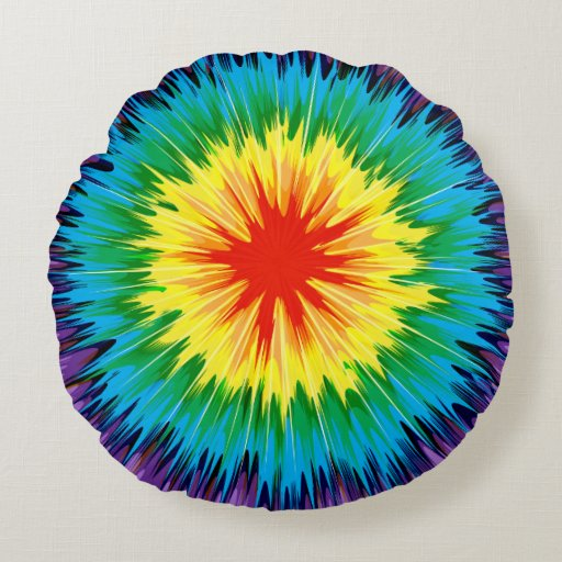 Tie Dye Rainbow Pillow