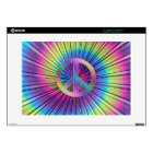 "Tie-Dye Rainbow Swirl Hippie Peace Sign 15"" Laptop Decal"