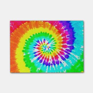 Tie Dye Rainbow Swirl Neon Rainbow Colors Pattern Post-it Notes