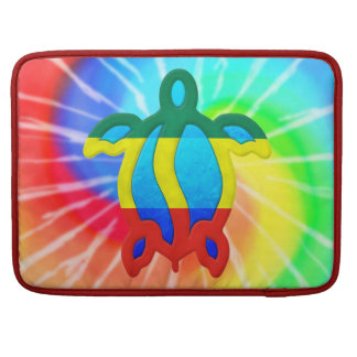 Tie Dye Rasta Honu Turtle Sleeve For MacBooks