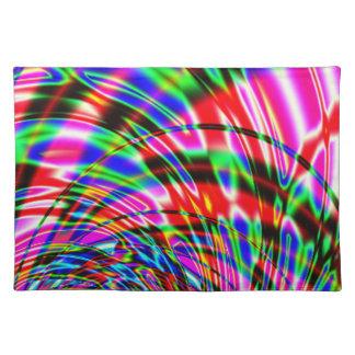 Tie Dye Retro Wave Fractal Placemat