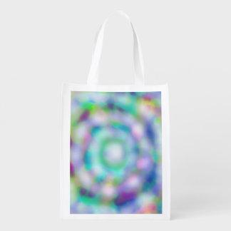 tie dye reusable grocery bag