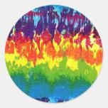Tie-Dye Round Sticker