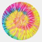 Tie Dye Round Stickers