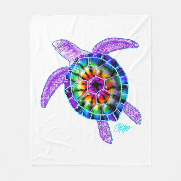 Sea Turtles Plush Fleece Tie Blanket