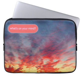 Tie-Dye Seattle Sunset Chat Computer Sleeve