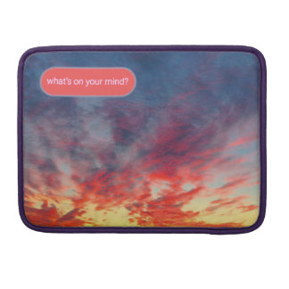 Tie-Dye Seattle Sunset Chat Sleeve For MacBooks