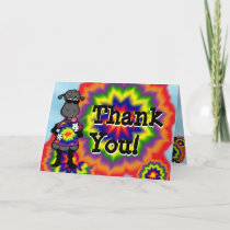 Tie Dye Sheep Thank You Card