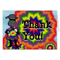 Tie Dye Sheep Thank You Card