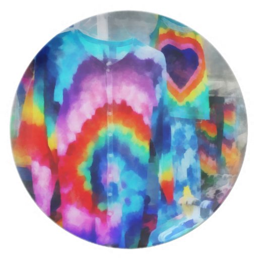 Tie Dye Shirts Party Plate